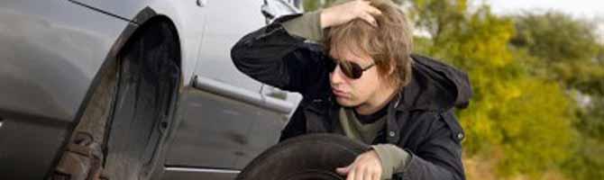 Más del 70 por ciento de los coches lleva neumáticos en mal estado